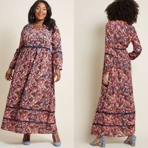 Modcloth Ravishing Matters Floral Maxi Dress 1X